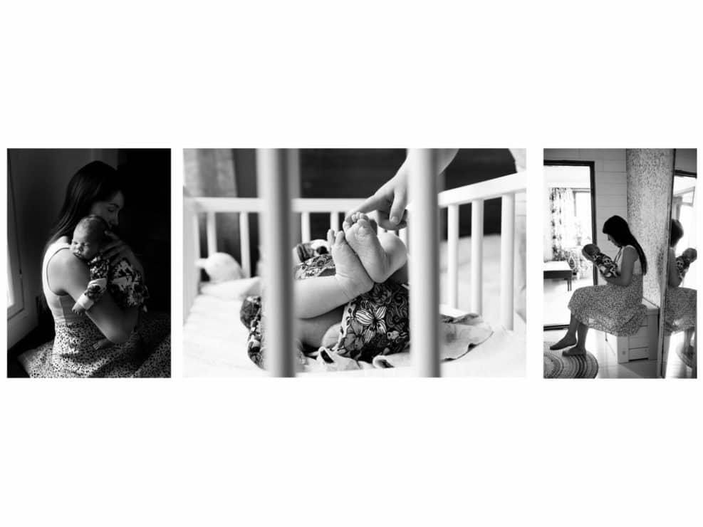 Dokumentaristinen vauva valokuvaus asiakkaan kotona